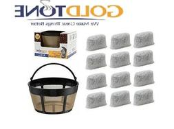 GoldTone Charcoal Water Filters & Basket Filter for Cuisina
