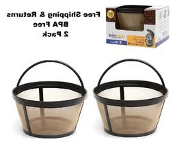 2 Pack GoldTone Reusable 8-12 Cup Basket Coffee Filter for A