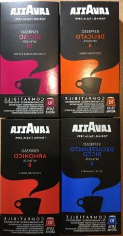40-Lavazza Expresso Capsules For Nespresso Machines Only 4 P