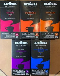 50-Lavazza Expresso Capsules For Nespresso Machines Only 5 P