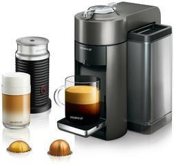 Coffee and Espresso Machine with Aeroccino Vertuo Graphite M