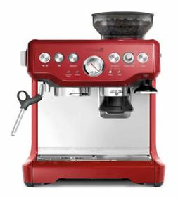 Breville Cranberry Red Stainless Espresso Machine