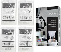 Urnex Dezcal Coffee and Espresso Descaler and Cleaner - 4 Pa