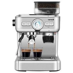 Espresso Cappucino Machine Coffee Maker Stainless Steel w/ G