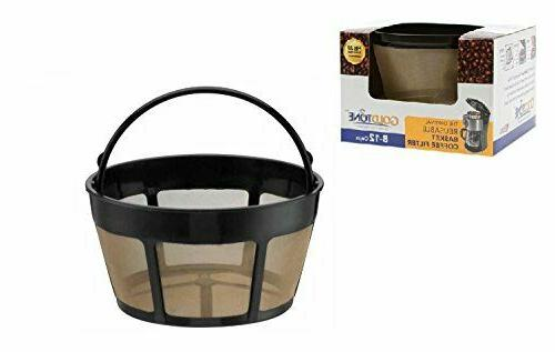 GoldTone Reusable 8-12 Cup Basket Coffee Filter for All Hami