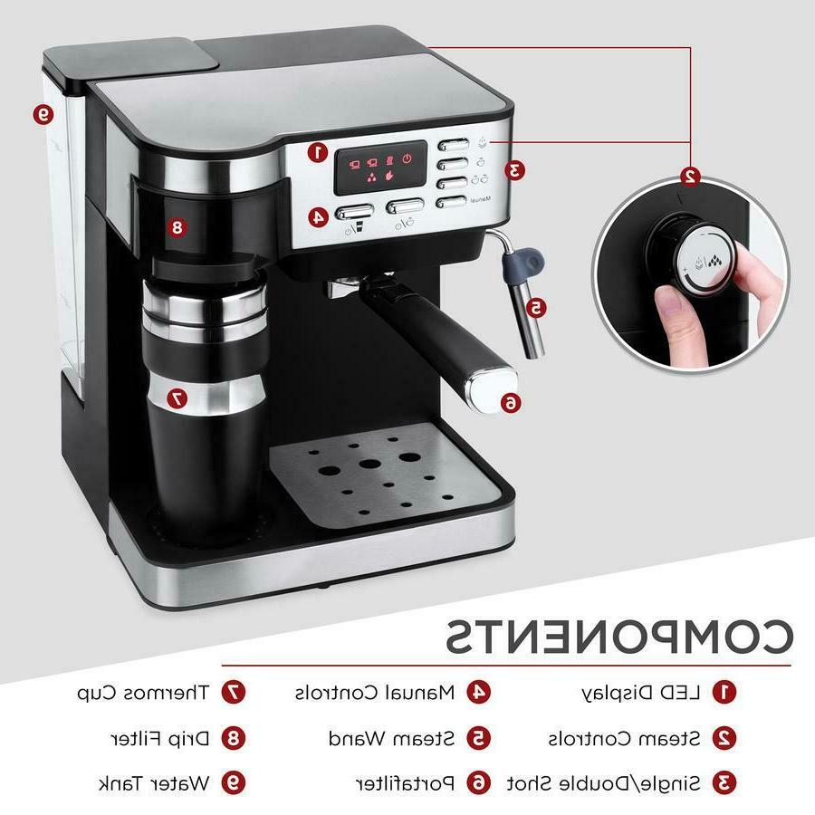 3 Coffee Machine Programmable 115-Bar Accessories