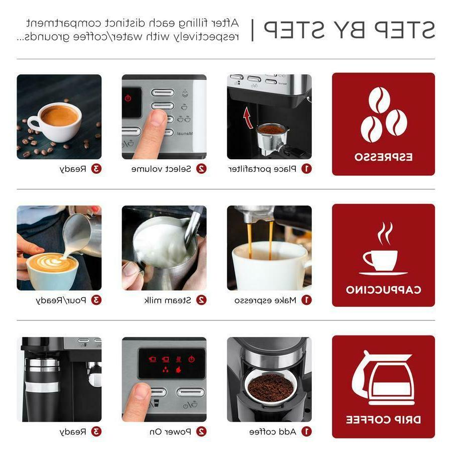 3 Espresso Coffee Machine Maker Programmable Accessories
