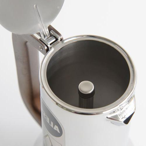 New 9090/3 Stove Top 3 Cup Coffee 18/10 Stainless