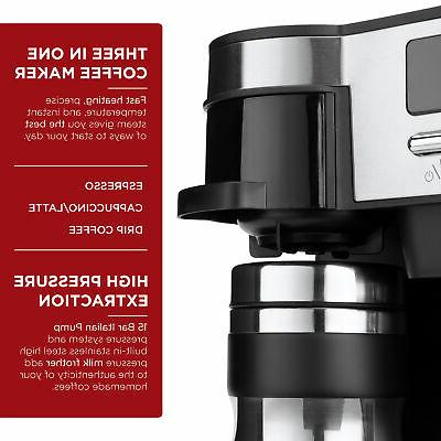 BCP 15-Bar Coffee, w/ Frother, Accessories