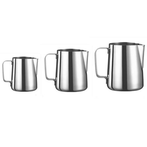 milk cup frothing pitcher steam stainless steel