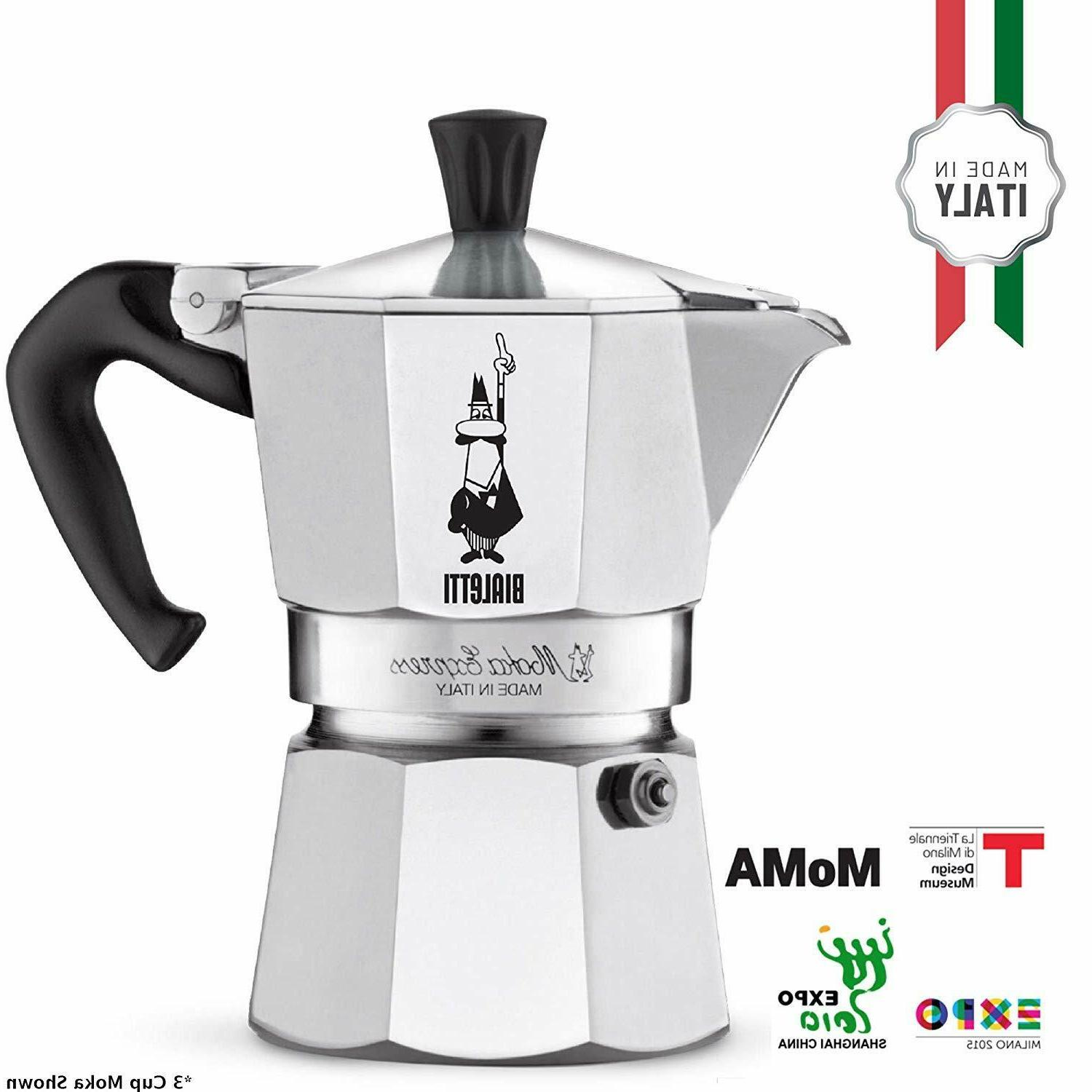 Stovetop Coffee Italian Maker Cup Fast NEW