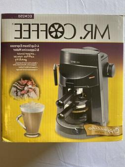 Mr Coffee 4cup Steam Espresso & Cappuccino Maker ECM250