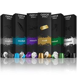 Rosso Caffe Nespresso Compatible Capsules - Variety Pack
