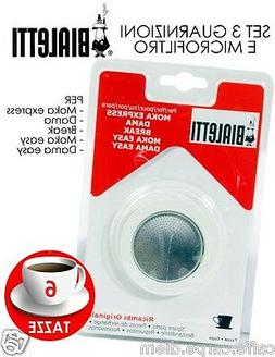 Bialetti Spare Parts 3 Seals 1 Platelet for Moka Express & D